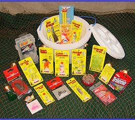 Walleye Bucket Full of Tackle Gift Basket