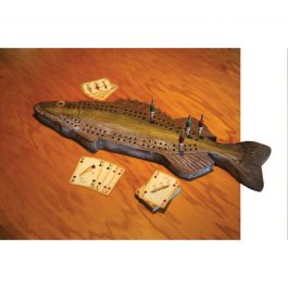 Walleye Cribbage Board Set